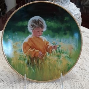 """Knowles Collector Plate, """"A Time for Peace""""."""